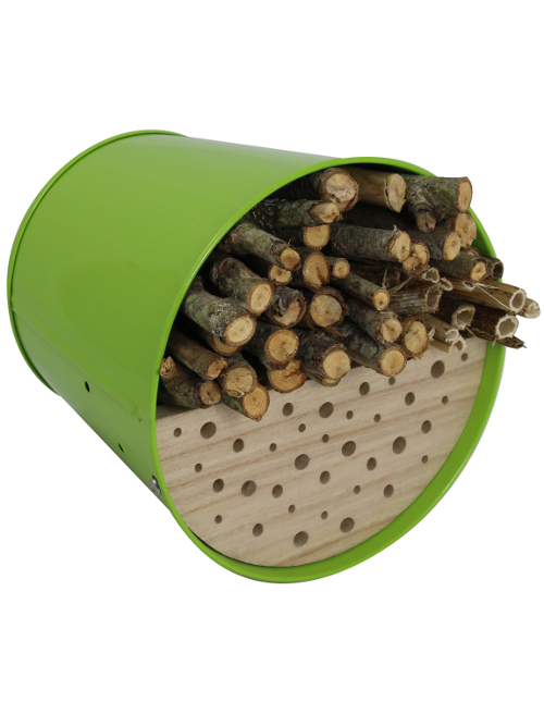 """GARDEN LIFE BOX"" - Shelter for birds and insects - GREEN color"