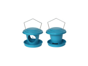 Distributors of seeds and grease for birds (blue)
