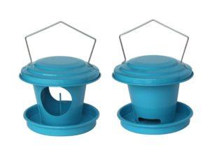 Mangeoire boule de graisse pour oiseaux en acier galvanisé Bleu