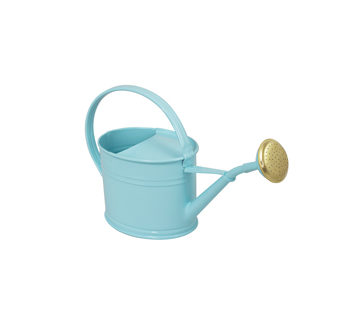 Steel watering cans galvanized by a volume of 1.75L Pastel blue