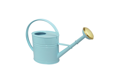 Steel watering cans galvanized by a volume of 4L Pastel blue