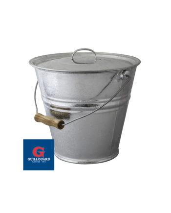 Seau avec un couvercle en acier galvanisé Guillouard