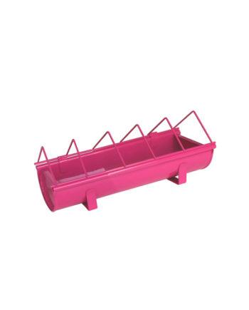 Mangeoire rose en acier galvanisé pour animaux Guillouard rose 30cm