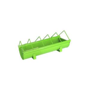Mangeoire-verte-en-acier-galvanisé-pour-animaux-Guillouard-Vert-30-cm