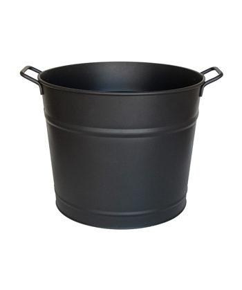 Seau à bûche ou à granulés en acier galvanisé d'une contenance de 40L
