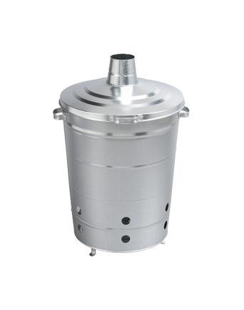 Incinérateur Grille-Herbe en acier galvanisé 110L Guillouard