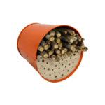 Nichoir – Abri pour oiseaux en acier galvanisé Orange