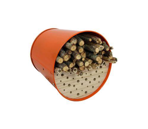 Nichoir - Abri pour oiseaux en acier galvanisé Orange