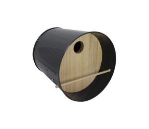 Nichoir – Abri pour oiseaux en acier galvanisé Noir