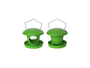 Distributors of seeds and grease for birds (green)
