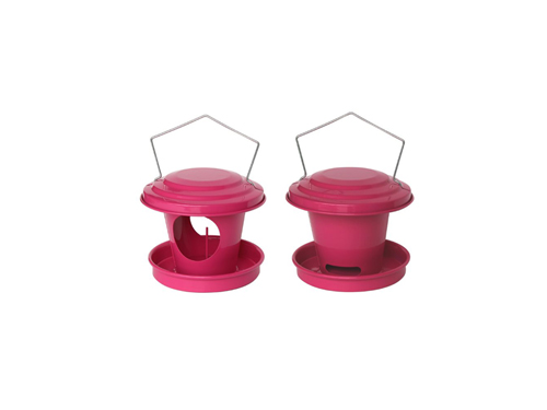 Distributors of seeds and grease for birds (pink)