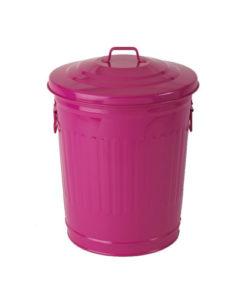 poubelle-américaine-rose-en-acier-galvanise