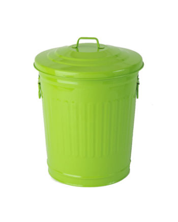 Trash 30 liters and compactor green