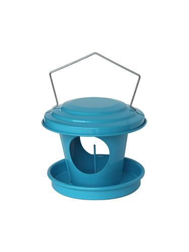 mangeoire boule de graisse pour oiseaux en acier galvanis bleu guillouard articles pour la. Black Bedroom Furniture Sets. Home Design Ideas