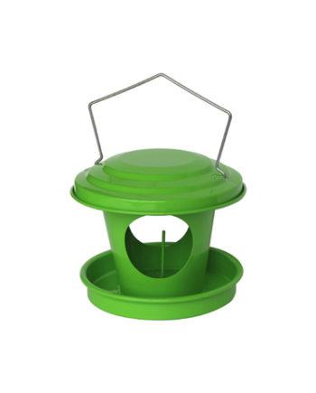 Mangeoire boule de graisse pour oiseaux en acier galvanisé vert