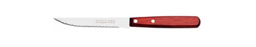 Couteau à steak avec une lame lisse et un manche en bois