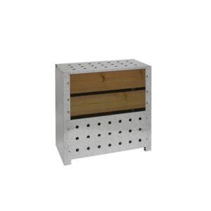 Composteur en bois de jardin en bois 470L