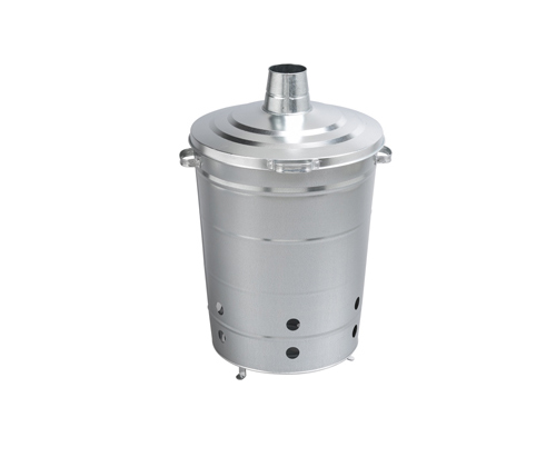Garden Waste Incinerator 110 liters galvanized steel