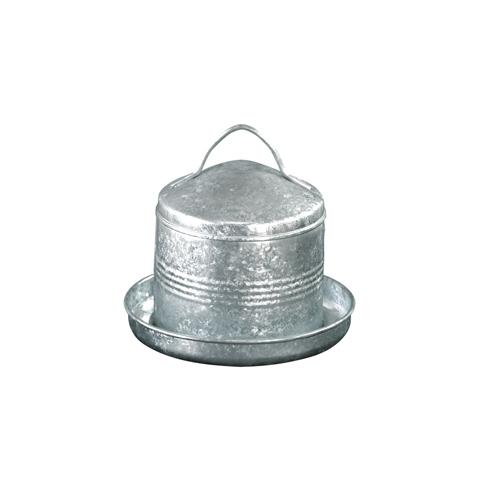 Galvanized steel drinking trough 3L