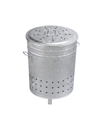 Incinérateur Grille-Herbe en acier galvanisé 80L