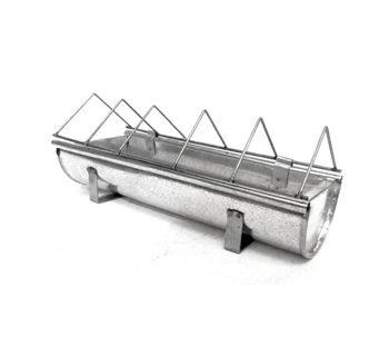 Mangeoire en acier galvanisé pour animaux Guillouard 30cm