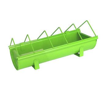 Mangeoire en acier galvanisé pour animaux Guillouard Vert 30cm