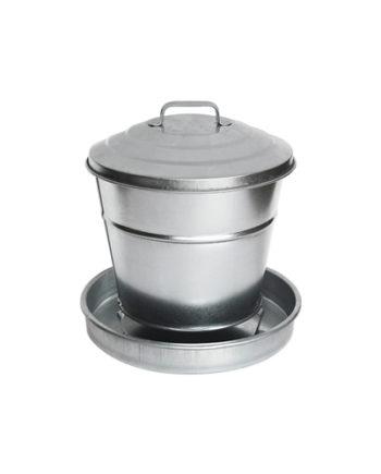 Seau à graines en acier galvanisé 6L