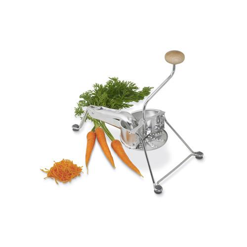 Râpe premium à légumes en acier vendue avec trois grilles différentes.