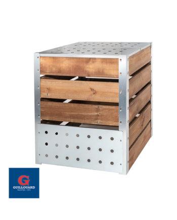 Composteur de jardin en bois 470L